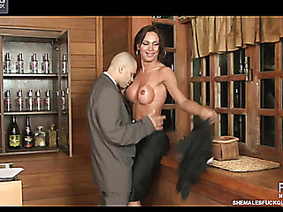 Leticia&Tony transsexual dicking guy on movie scene