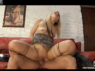 Connie&David white-hot sexy pantyhose play the part