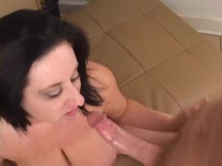 BBW milf lets him plug the brush wet pussy