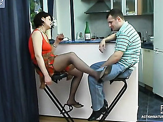 Romantic date with insatiable older chick fastened to have doggystyle finale