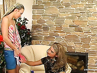 Stephana&Gilbert female clothed couple in action