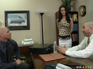 Fucking A catch Future Brunette Boss Jessica Jaymes In A catch Office