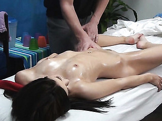 Hawt private massage proceeds with fine hardcore sex