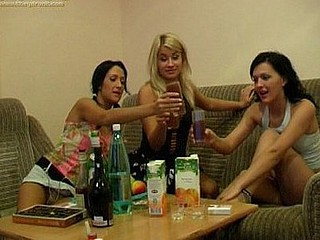 The three sexy honeys look gorgeous and they're all downing cocktails in the hope of getting drunk and hooking up. Normally they wouldn't be desirous to eat vagina but as in a short time as they receive loaded their priorities change and all they can think about is munching box. That makes for a pretty great set for these of us on the outside as we watch 'em practically devour every other in excitement. It's hottest when 2 of 'em work on one girl to try and receive her off in a powerful, fleshly fashion