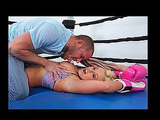 Brazzers follows Brittney on her day off as this babe works out in the boxing ring. This Babe shows us her strong left hook in advance of Scott tackles her to the ground for a little pounding.