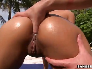 Abella Anderson gets her perfect ass fingered with an increment of defied