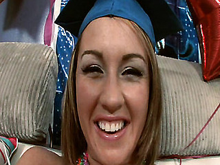 18 year old Bella's graduation fuck ceremony!