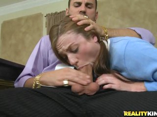 Kali Kenzington gets her mouth crammed with hard cock
