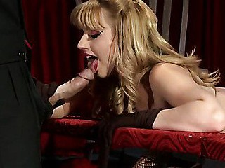 Johnny goes to a burlesque show to see the seductive, Lexi Belle. This Babe comes out and wows the audience with her tassel melons, but then Johnny wows her with his large jock. This Babe can't resist and so this chick have to have his dong inside her.