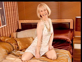 Golden-Haired granny pulls anal beads out of the brush shaggy waft