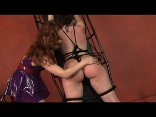 Horn-mad babe gets her absolve entire body whipped.