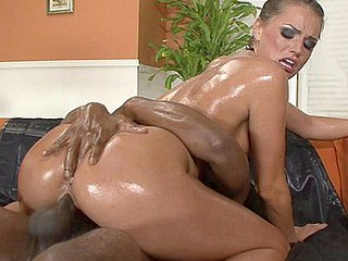 Tori Black loves her sex slippery and sexy.  So that babe broke out the lube and got all oiled up, making that tight and toned bod of hers all shiny and slick sufficiently for Tee Real to slide his large penis between her petite boobies.  That Chap really needed the lubrication to fit his constricted rod in that tight wet crack of hers, too.