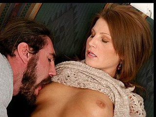 Anilos red head rae rodgers coats a pecker in her saliva previous to fucking it