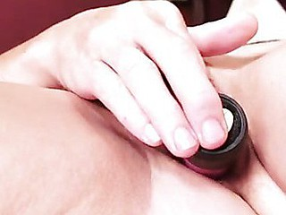 Anilos Rosetta stuffs their way unshaved fuck box with a toy