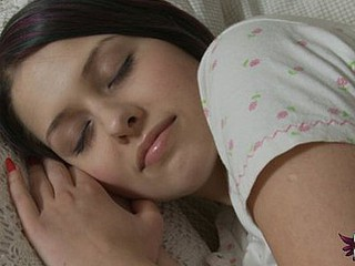 Sweet legal time teenager awakens roughly masturbate