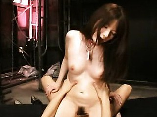Hot chick from Japan is performing nice titjob to boyfriend