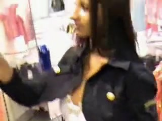 Young nasty whore fucked in a fitting room