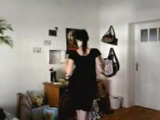 Tattooed stripper home movie scene