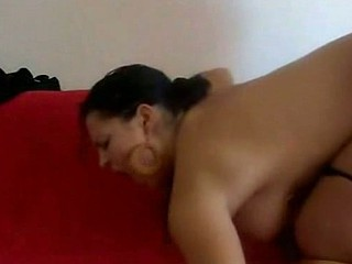 Black haired and somewhat corpulent older Greek wife is featured in this great quality homemade recording giving her hairy skinny husband a horny head, and then riding him and blowing him some more with her black panties just dragged down to her hips in unbelievably slutty manner, finally catching his cum in her greedy mouth.