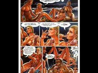 Skinny blonde can't live without thickest jizz-shotgun fetish comic