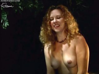 Sensual Athena Demos Shows Her Boobs in an Outdoor Sex Scene