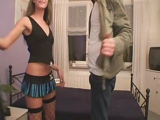 Slut Offers Her Service at his Place