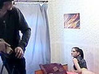 Brunette goth sweetheart in jeans and miserly lie low inform of fucks
