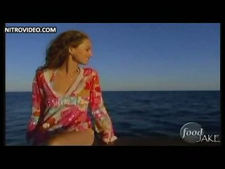 Downcast Italian Flannel Giada De Laurentiis Wearing a Tight Short Costume