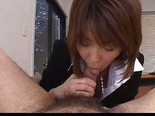 Horny teacher sucks a pecker in her private office
