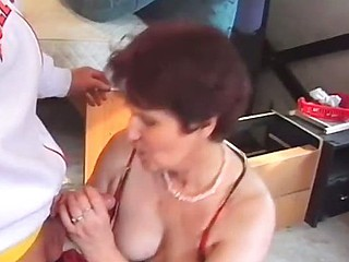 Superannuated Dame Banged Nigh The Ass By Waiter