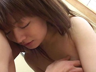 Adorable tiny Japanese wife blows him and then gets bent over with a facial