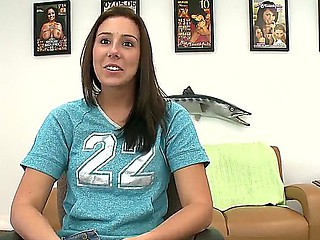 Cute and irreproachable Taylor Uneasiness is showing her gorgeous unproficient knockers and hot twat during interview