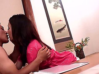 Stunningly charming Julia gets her despondent unpretentious scoops devoured at the end of one's tether lusty Asian man