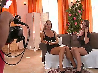 Cindy Dollar and Silvia Saint are giving one nasty private lesbian livecam show