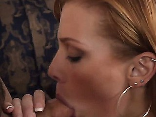 Inconsolable Andi Ashton pleases Rocco Reed with a deep-throat blowjob