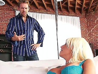 Erik Everhard enjoys admiring blonde Jacky Enjoyment masturbating before fucking her deep and hard