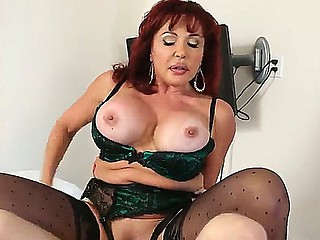 Hot milf beau with amazing boobies Sexy Vanessa is sucking hard wang of Danny Wylde