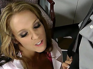 Criss Strokes is sliding to the bastardize where he meets horny doc Nikki Sexx