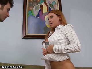Janet Mason is a lusty milf with a hunger for cock that can't be beat.  She loves getting her mouth filled with a guy's salami and her warm love box crammed with cock.  She spreads her legs wide and takes this meat puppet's full length inside her taut and toned body.