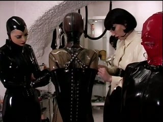 Kinky Lesbo Dominatrices Have Some Bondage Fun With Their Sex Slaves