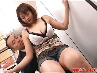 Japanese dominate model titsjob