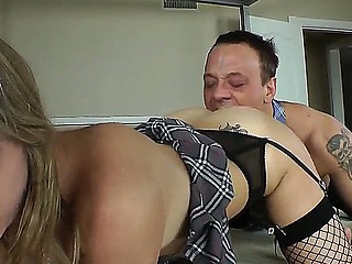 Turned on tattooed ass licking scantling