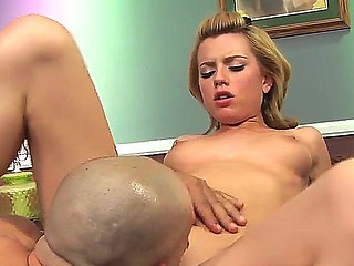 Tiny pale blond battle-axe Lexi Belle