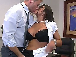 Inviting brunette doxy J Love with