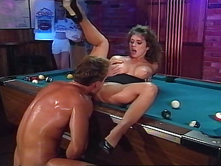 Rocco Enjoys Fucking Hot Girl On A Conjoin Tabke & Gives Facial