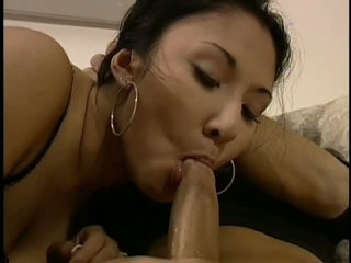 Asian playgirl Envy Mi sucks and bonks in high heels