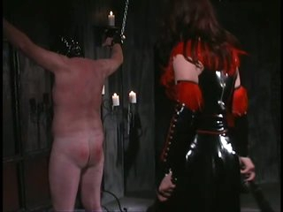 Female-dom Aradia Wraps Up Her Sex Slave and Then Tortures His Balls