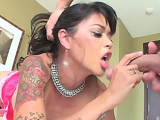Tattooed Oriental chick in truth loves hardcore