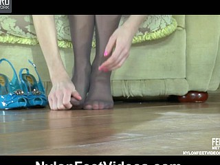 Martha&Rolf loving nylon footsex