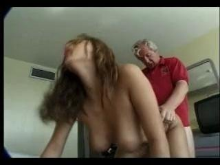 Old man fucks sexy maid